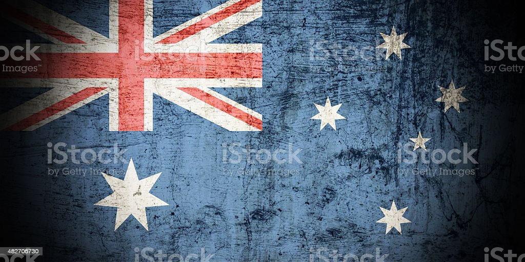 Grunge Australian Flag stock photo