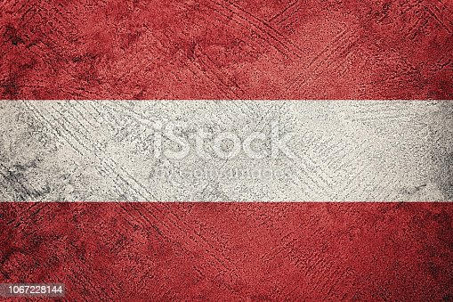 Grunge Austria flag. Austria flag with grunge texture.