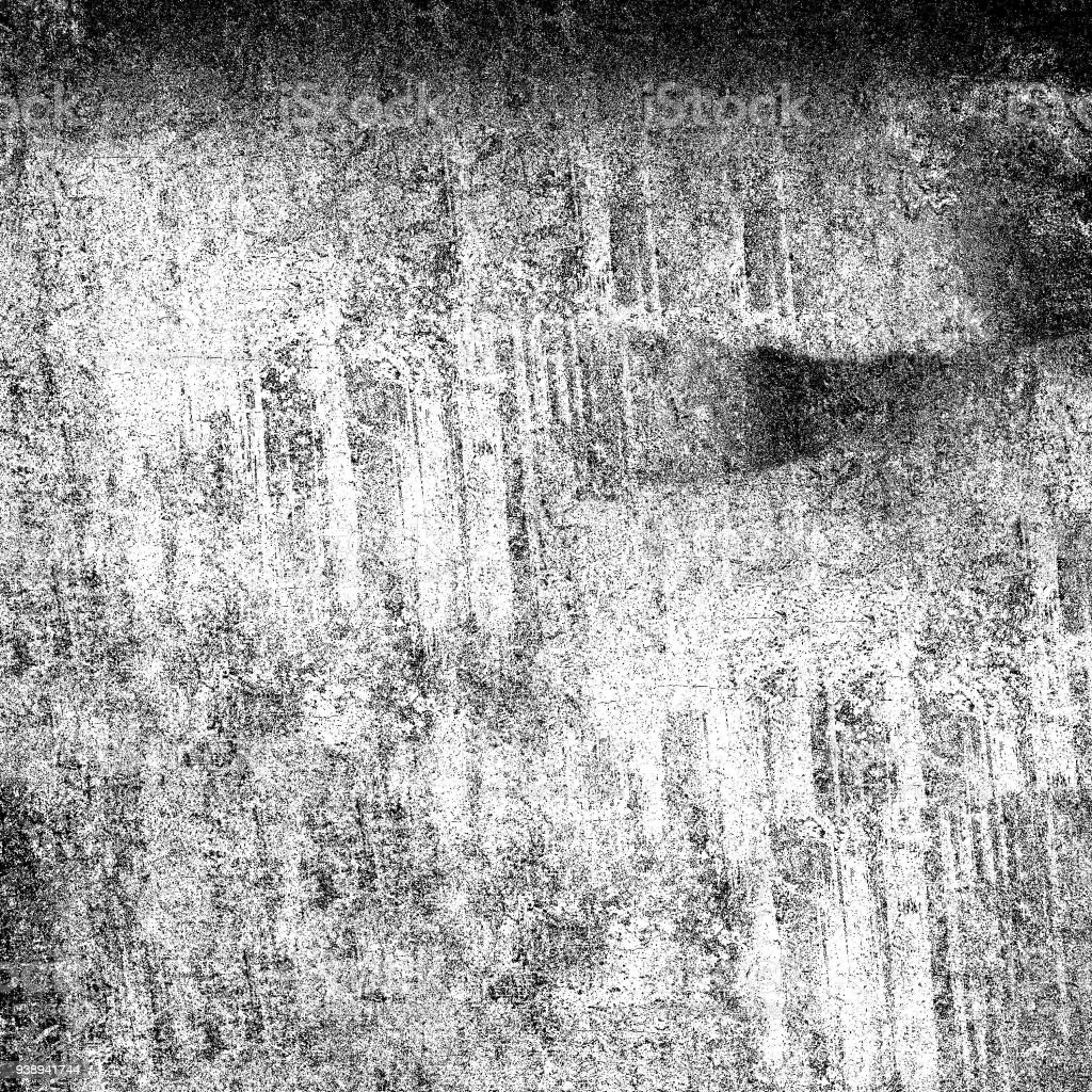 Grunge background black and white abstract dust, crack, stain stock photo