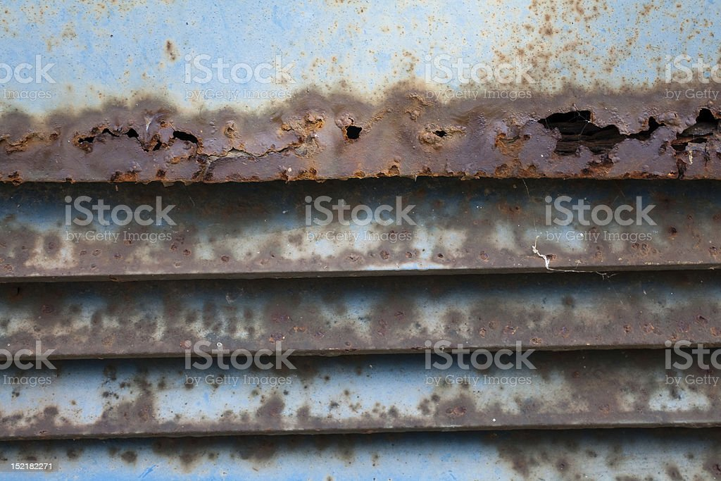 Grunge Background, Blue and Rusty Copy Space royalty-free stock photo