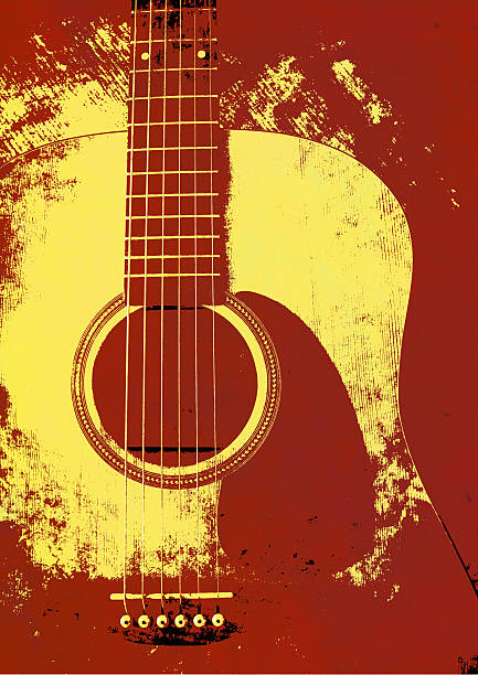 grunge background guitar - broken guitar stock photos and pictures
