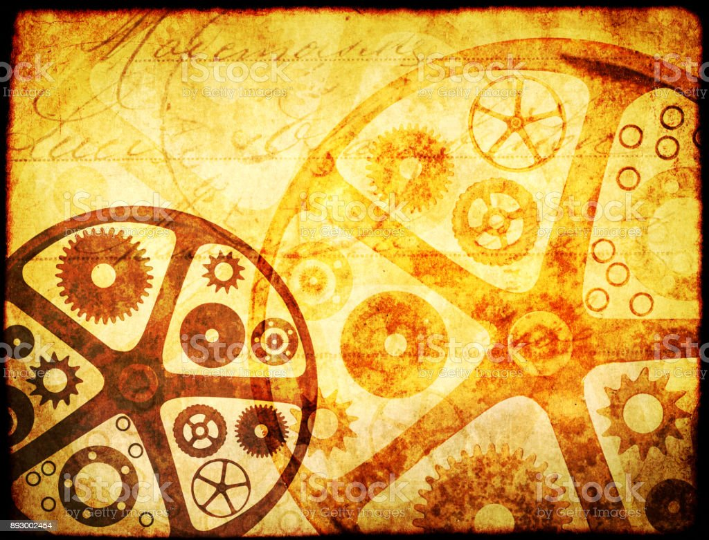 Grunge background in steampunk style stock photo