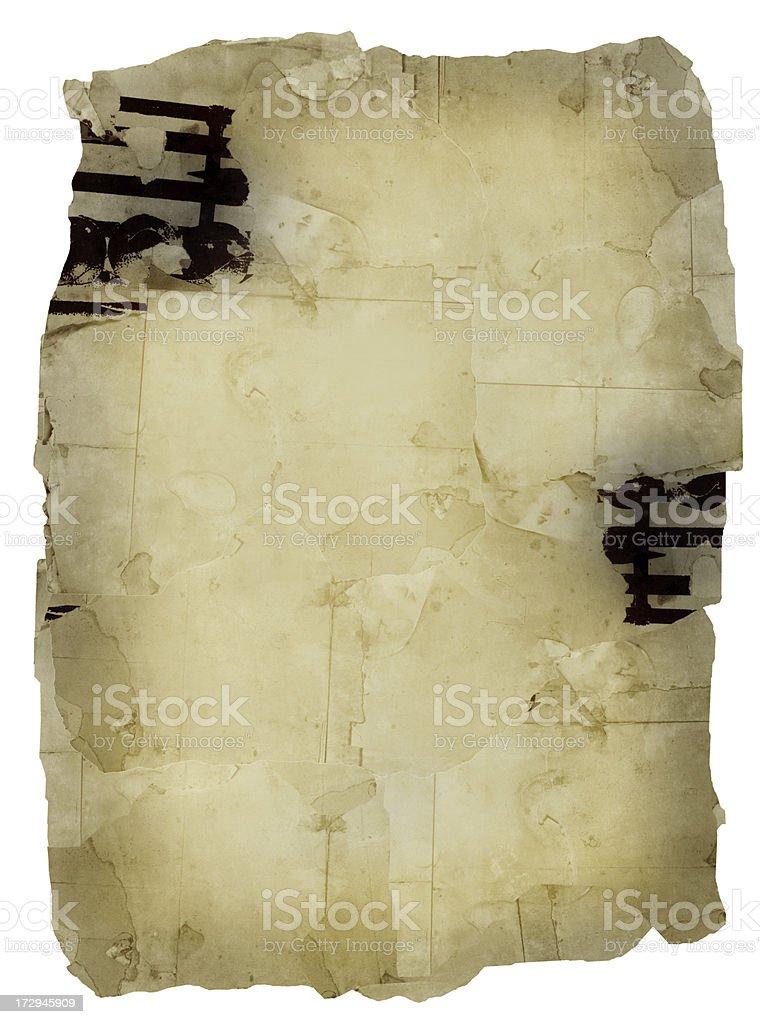 Grunge background of damaged posters royalty-free stock photo
