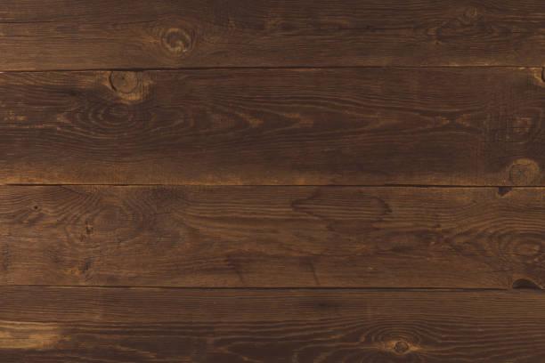 Grunge Hintergrund der alten braunen Holzplanke. Horizontale Streifen – Foto