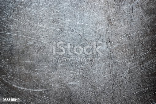 938345942 istock photo Grunge background of stainless steel, metal texture closeup 938345942
