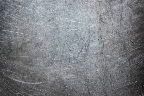 grunge background of stainless steel, metal texture closeup - steel stock photos and pictures