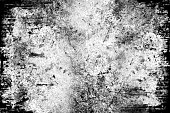 Abstract  Grunge Background - Harsh - Black and White