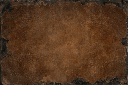 Grunge background with shabby, tattered, bleached distress fabric texture with rusty iron frame, framework for your content, available in 6 colours.