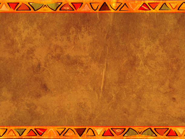grunge background with old paper texture - african culture stock photos and pictures