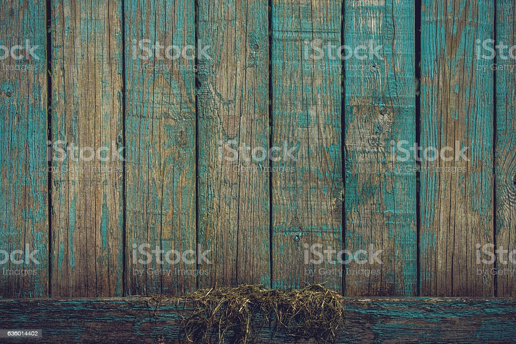 Grunge background with wooden planks in blue colors stock photo