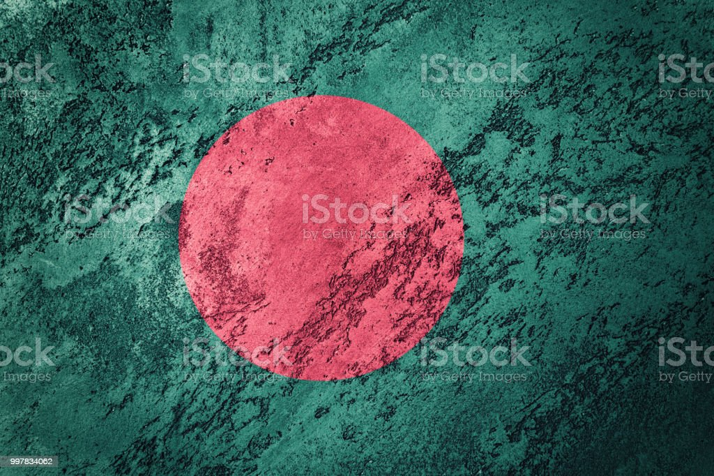 Grunge Bangladesh flag. Bangladesh flag with grunge texture. stock photo