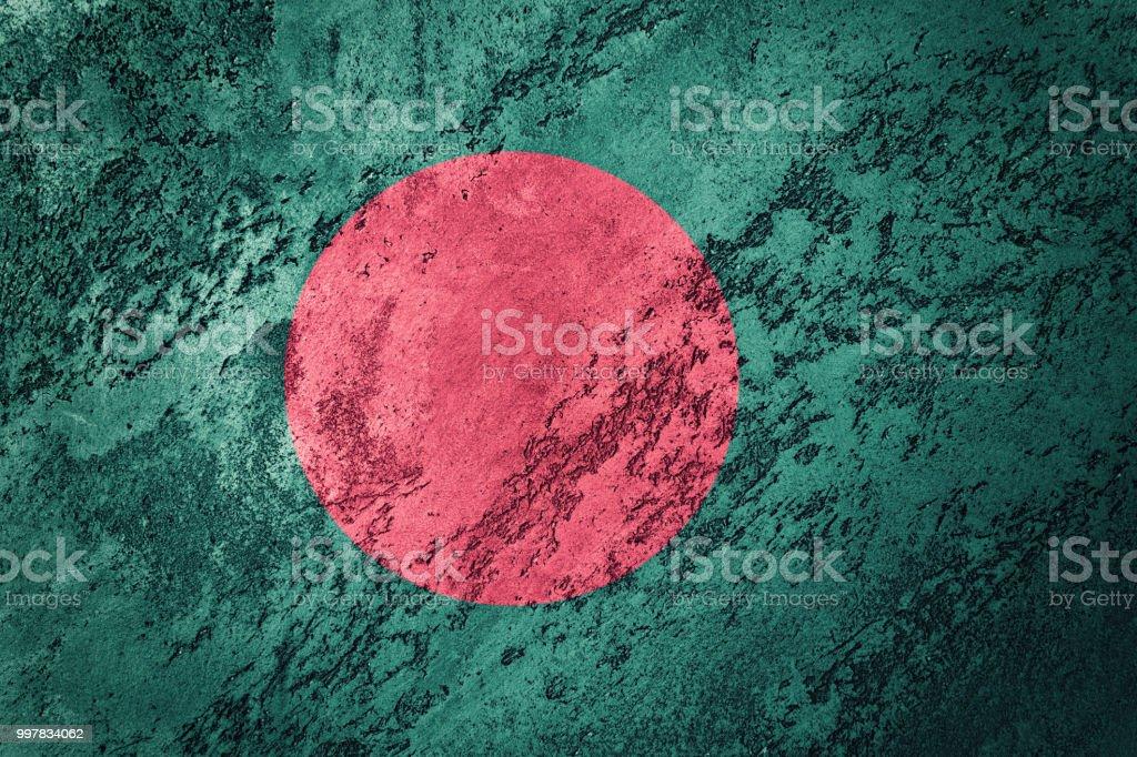 Bandeira de Bangladesh grunge. Bandeira de Bangladesh com textura grunge. - foto de acervo