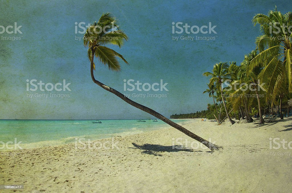 grunge beach royalty-free stock photo