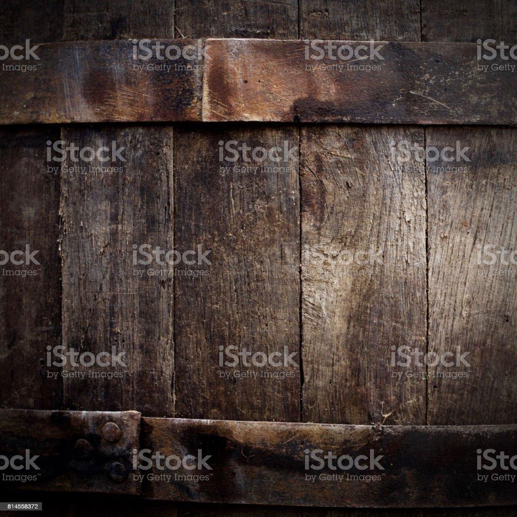 Grunge beer barrel stock photo