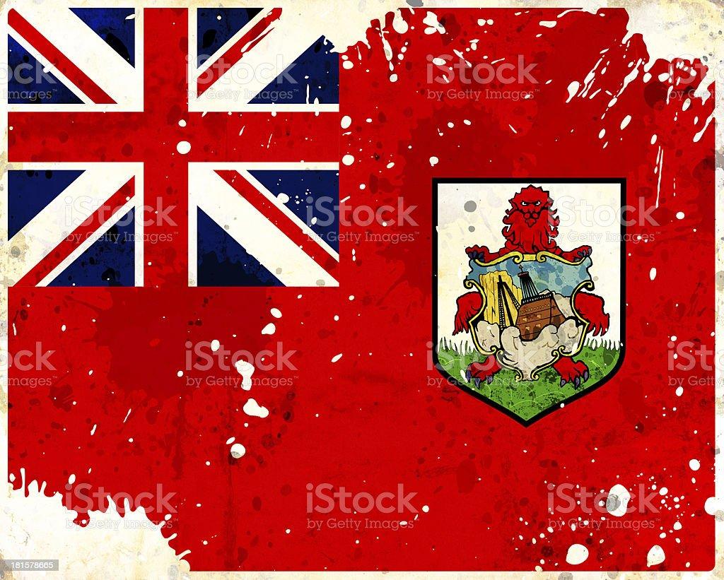Grunge Bermudas flag royalty-free stock photo