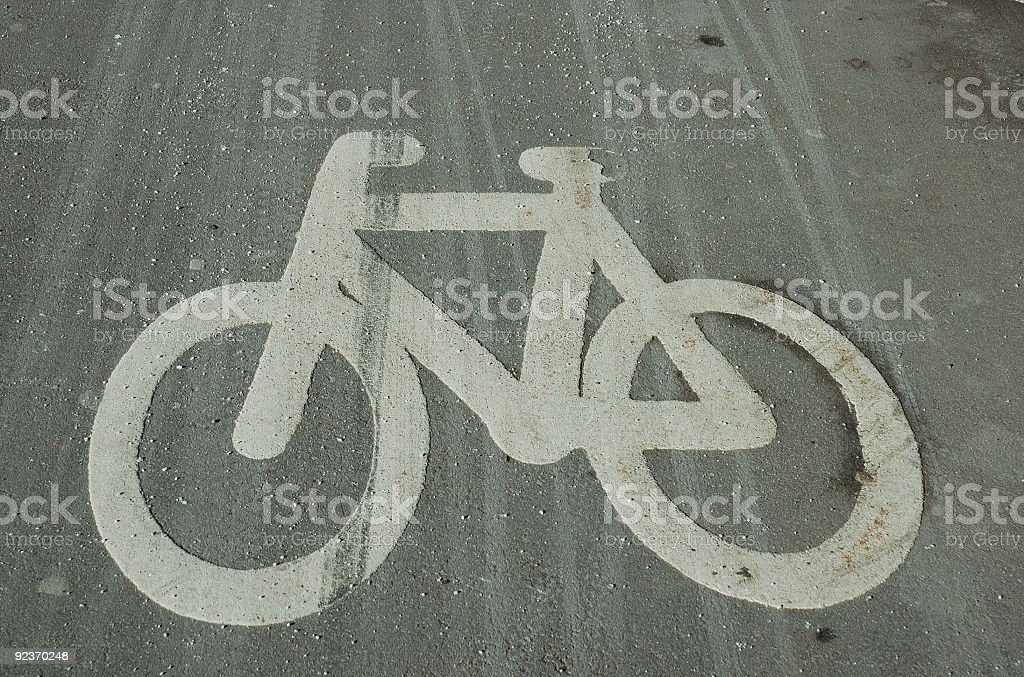 Grunge bike sign stock photo