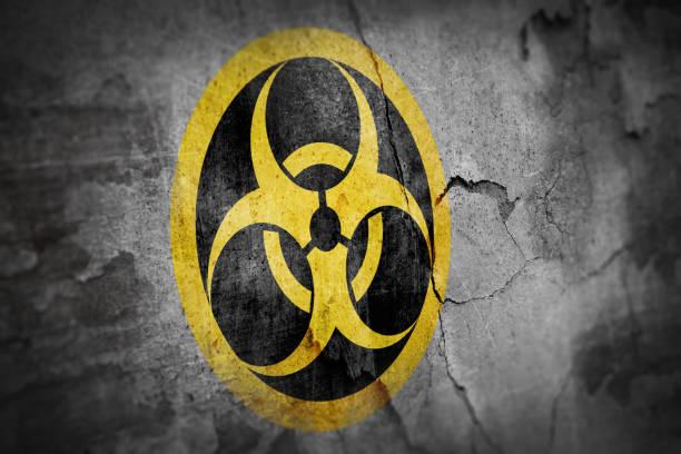 Grunge biohazard Symbol – Foto