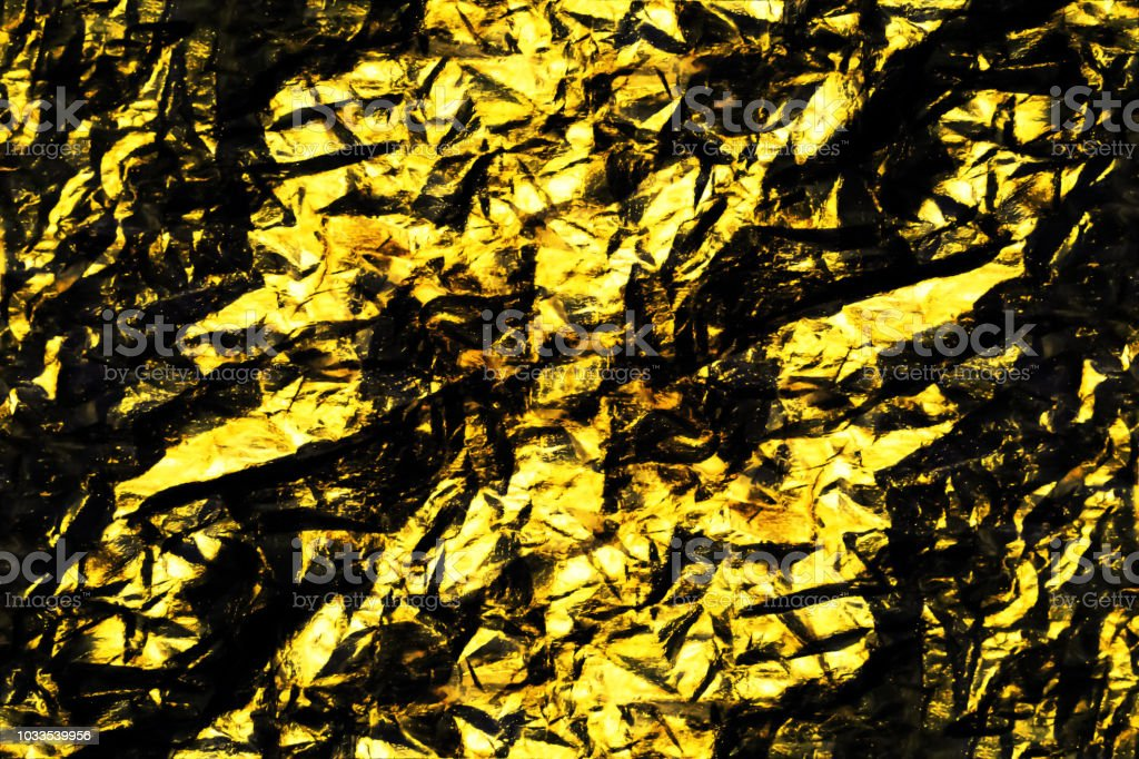 Grunge Black And Gold Texture Abstract Background For Design