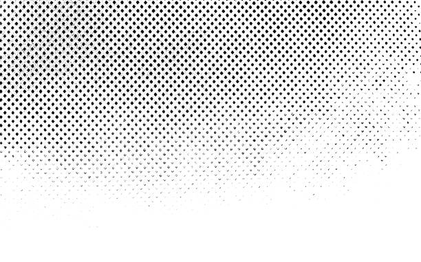 grunge black and white distress. dot texture background. halftone dotted grunge texture. - pattern foto e immagini stock