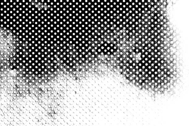Grunge Black and White Distress. Dot Texture Background. Halftone Dotted Grunge Texture. stock photo