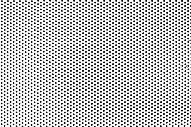 Détresse de grunge de noir et blanc. Fond de point de Texture. Demi-teinte noire pointée Texture Grunge. - Photo