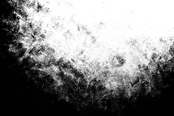 Grunge Black and White Distress Texture Background. Black and white grunge background hairbrush stock pictures, royalty-free photos & images