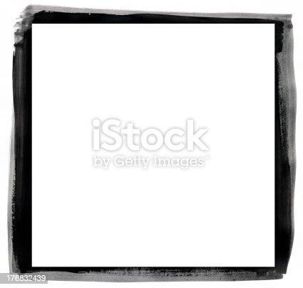 istock Grunge black and white frame 176832439