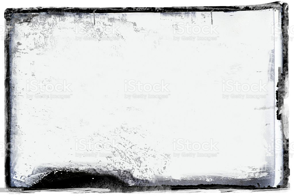 Grunge black border stock photo