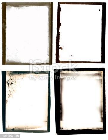 istock Grunge black border set 182457949
