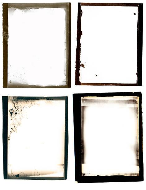 Grunge black border-set – Foto