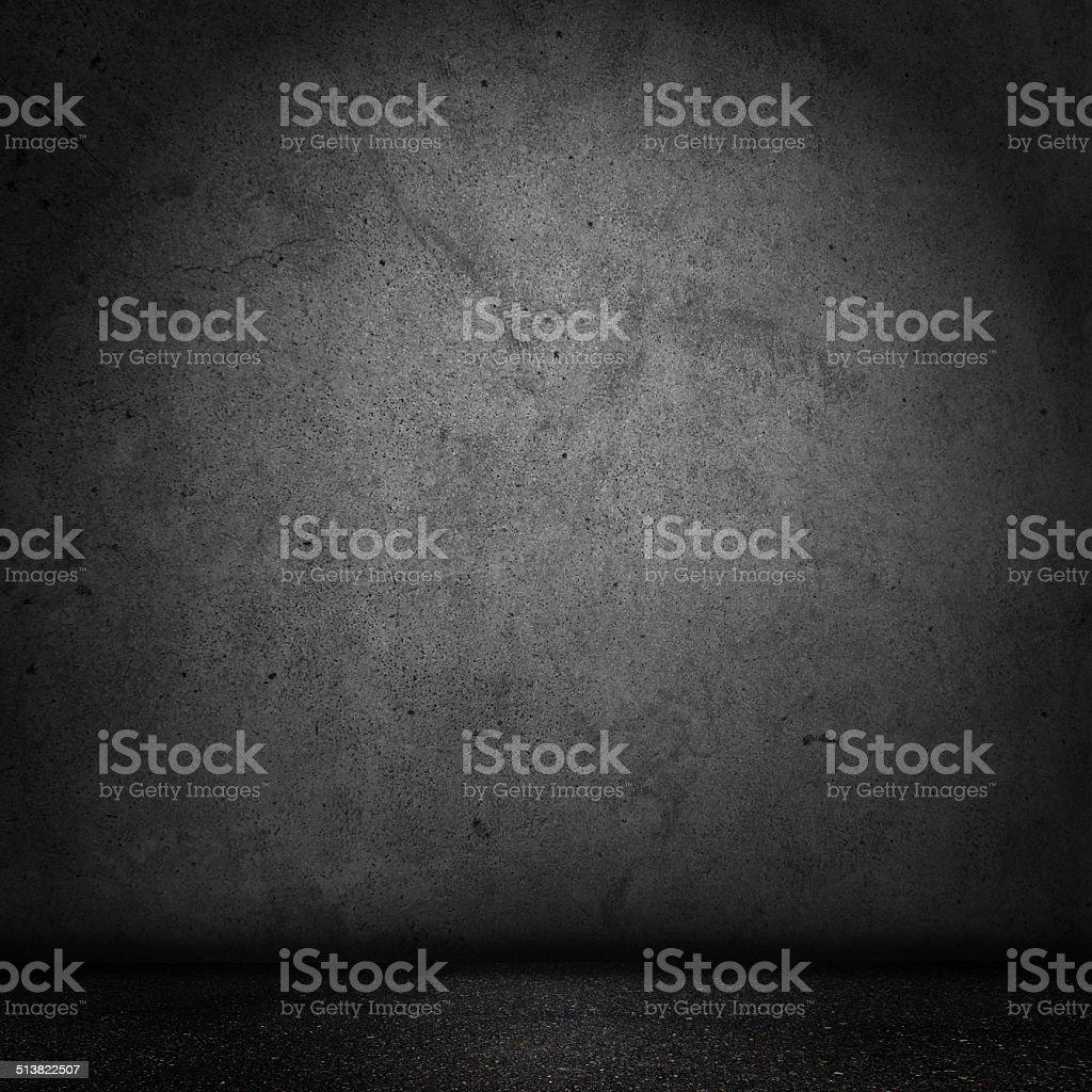 Grunge Black Domestic room stock photo