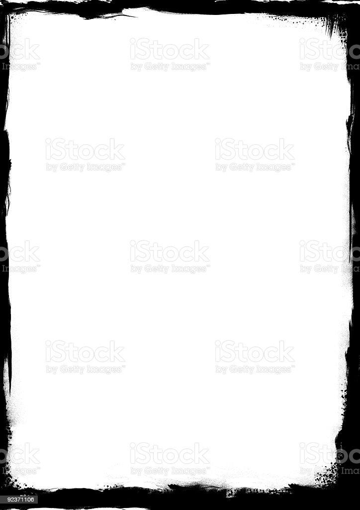 grunge black frame royalty-free stock photo