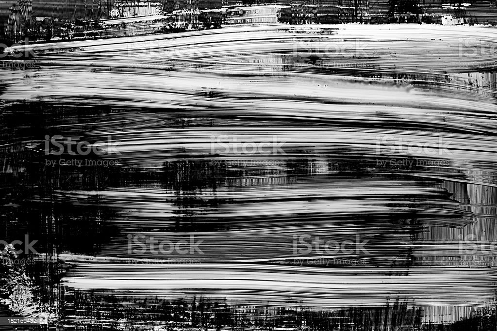 Grunge black paint brush stroke background stock photo