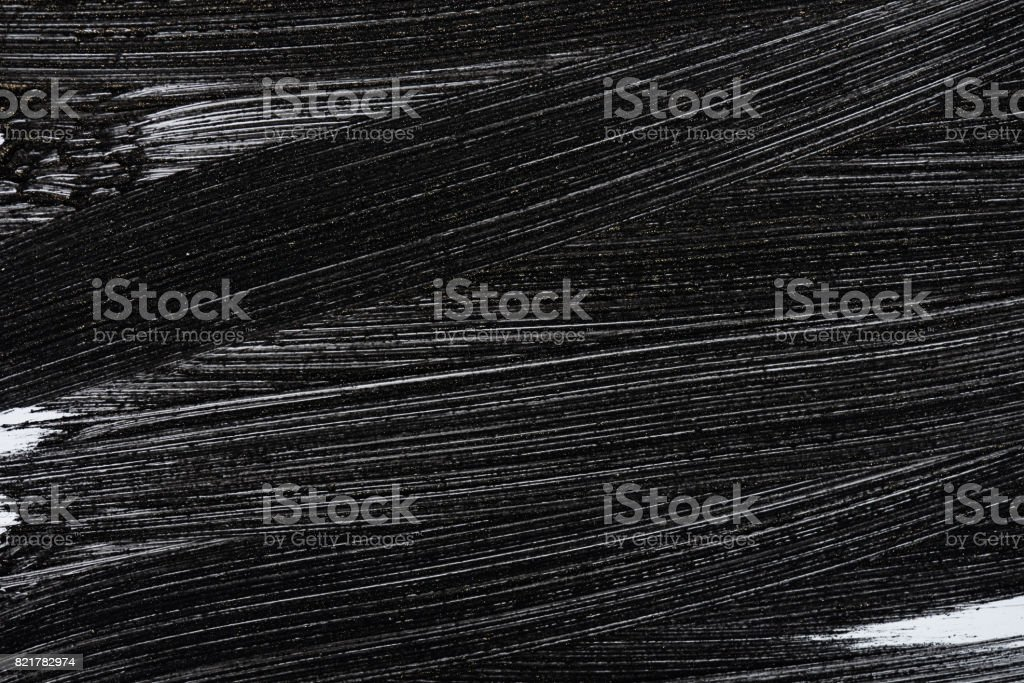 Grunge black paint brush stroke