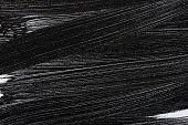 Grunge black paint brush stroke