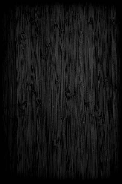Grunge black textured background Wooden textured black background bamboo material stock pictures, royalty-free photos & images