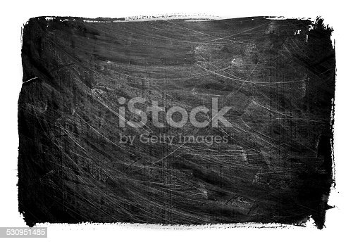 istock Grunge Blackboard textured background  isolated 530951485