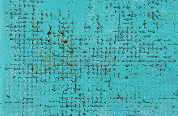 grunge blue background of vintage painted surface - defection stock photos and pictures