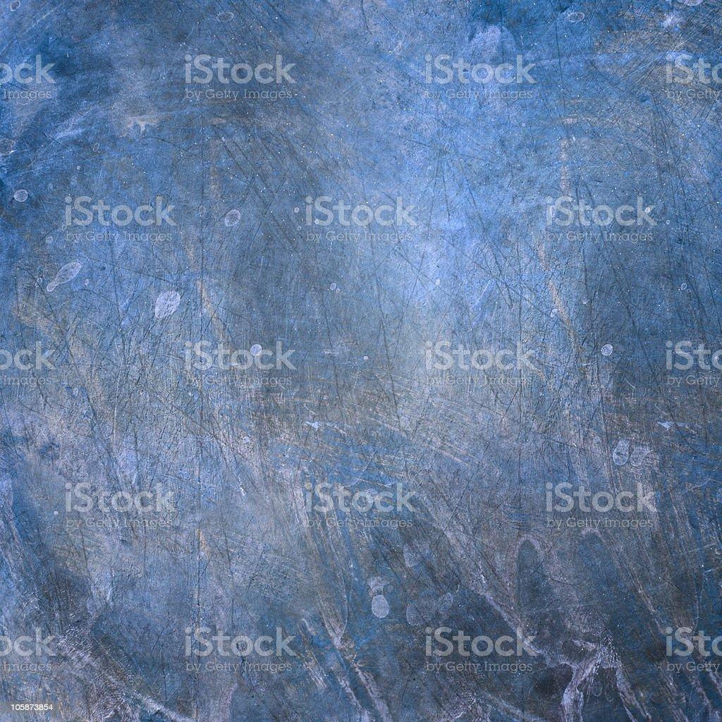 Grunge Blue Metal Surface royalty-free stock photo