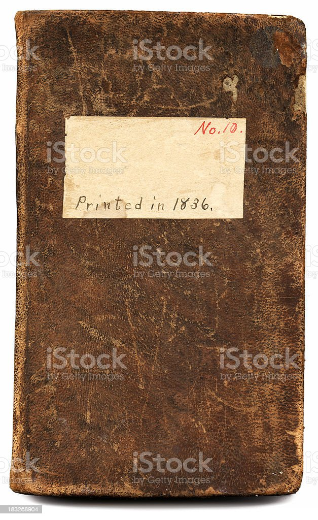 grunge book cover royalty-free stock photo