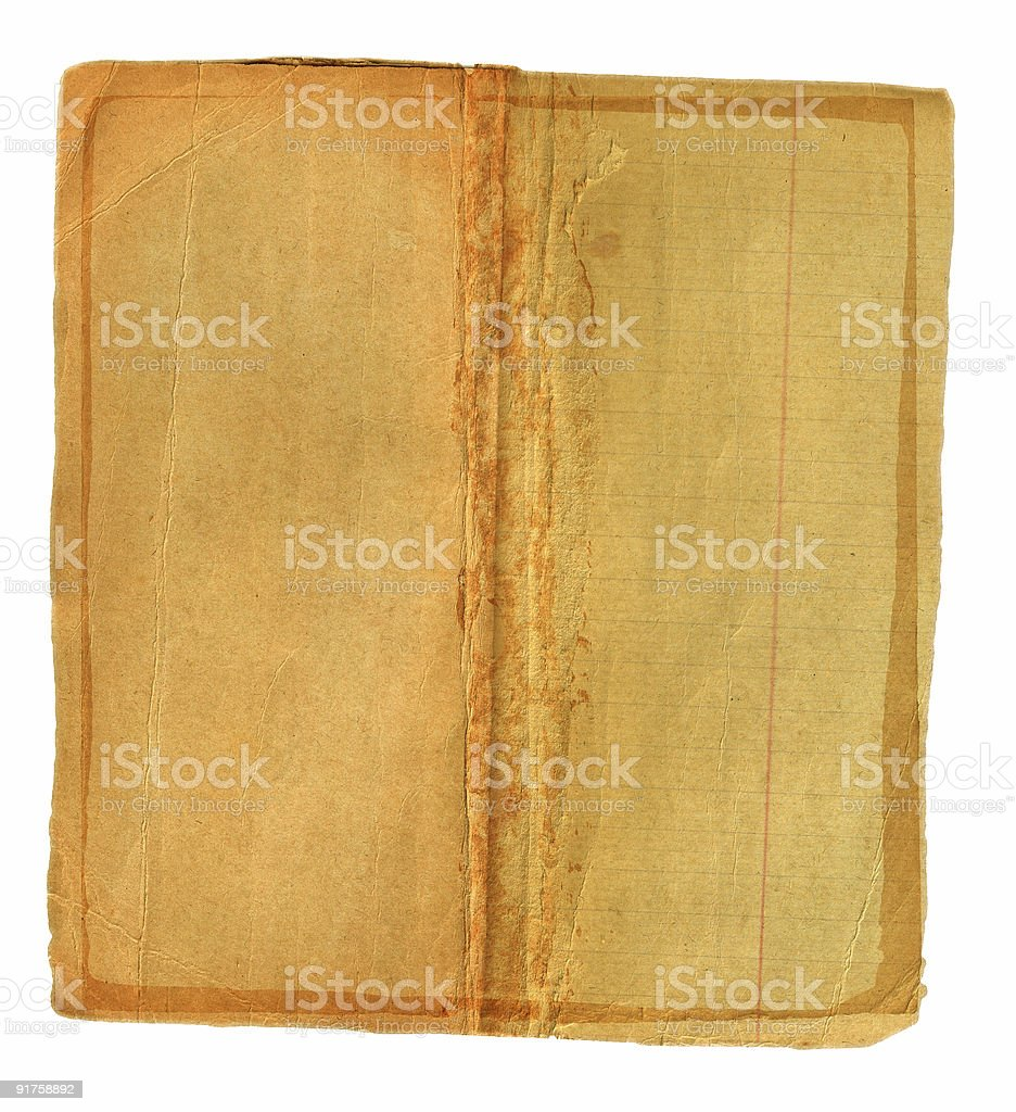 grunge book spread royalty-free stock photo