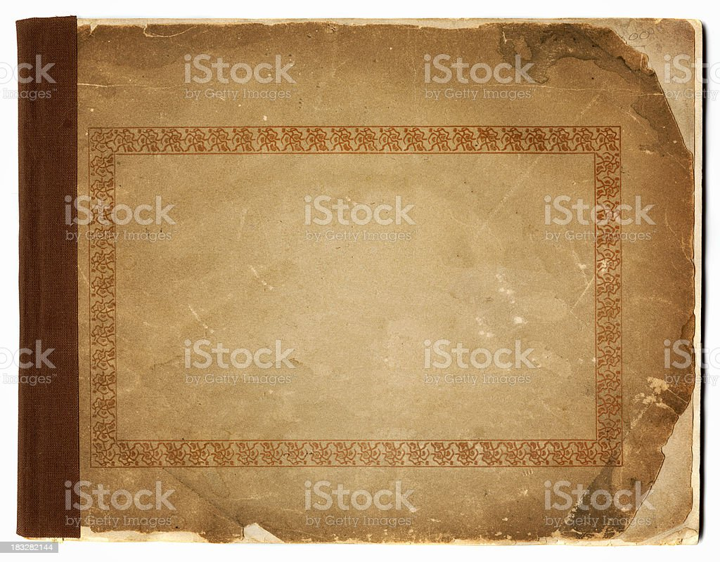 grunge booklet cover royalty-free stock photo