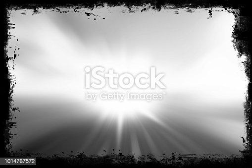 istock Grunge border frame with dark black painted brush strokes 1014767572