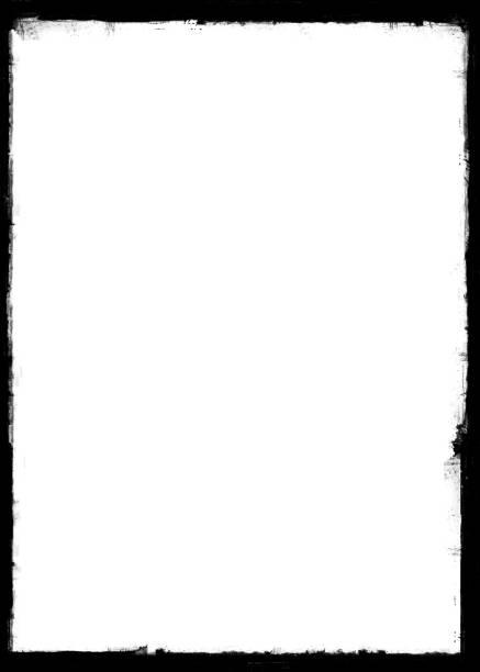 黑色畫刷描邊框 - 摄影 個照片及圖片檔