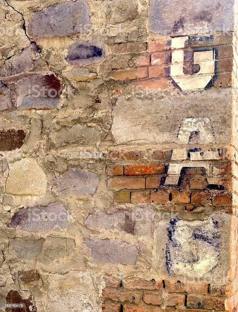 Grunge Brick Signage with word GAS stock photo