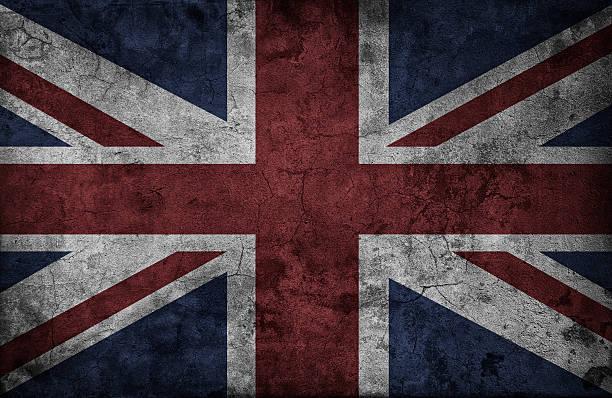 Grunge British flag stock photo