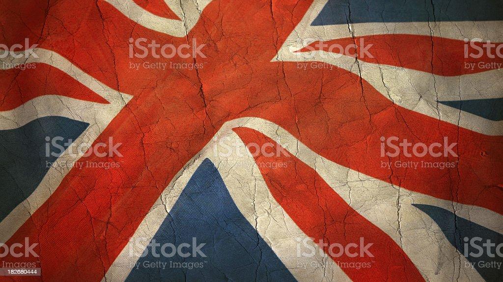 Grunge British Flag royalty-free stock photo