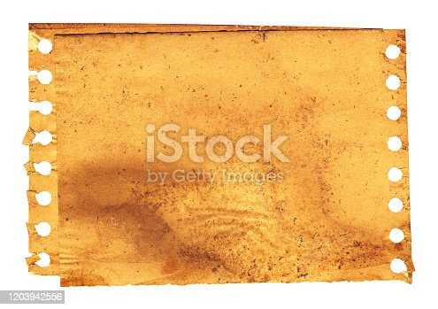 182216417 istock photo Grunge brown notepad page paper textured background isolated 1203942556