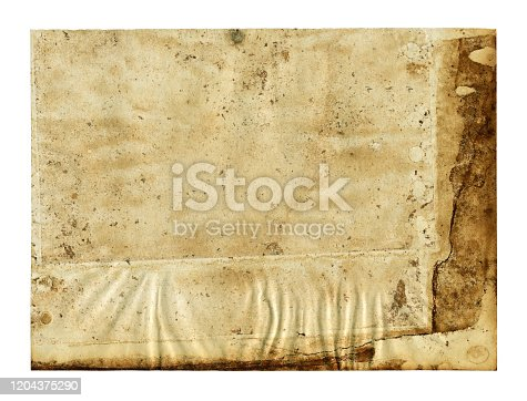 182216417 istock photo Grunge brown notepad page paper textured background isolated 1204375290