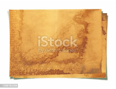 182216417 istock photo Grunge brown notepad page paper textured background isolated 1206782059